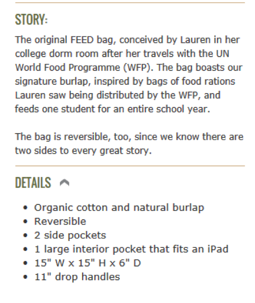 Great descriptions of FEED products