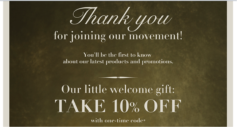 The minute you subscribe to FEED, you receive a reminder via email about your 10% discount.